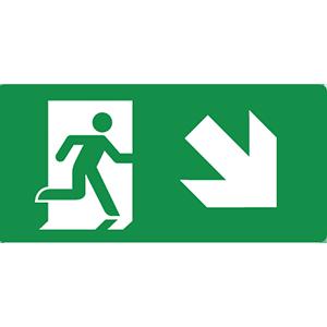 firsaco-pictogrammen-nooduitgang-trap-af-rechts