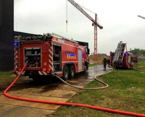 brand op werf in Mechelen