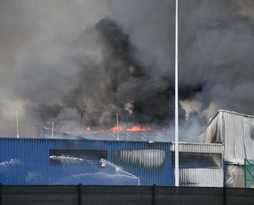 Industriebrand Kampenhout